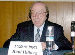 hilberg thesis At a conference on evil, holocaust historian raul hilberg maintains that the holocaust was a rational anti-semitism carried out by the lawyers, the doctors.